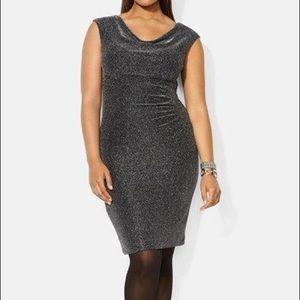 Lauren Ralph Lauren black shimmer dress size 18W